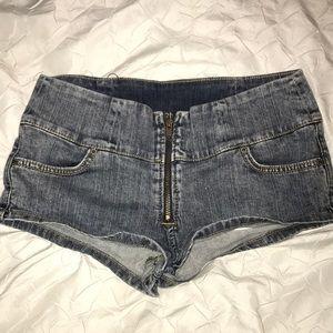 CARMAR Front Zip Denim Shorts